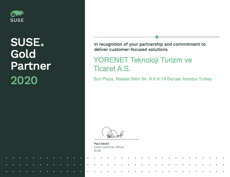 SUSE Gold Partner 2020
